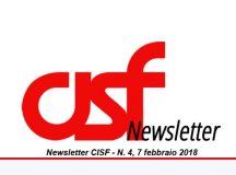 Newsletter 4/2018 del CISF